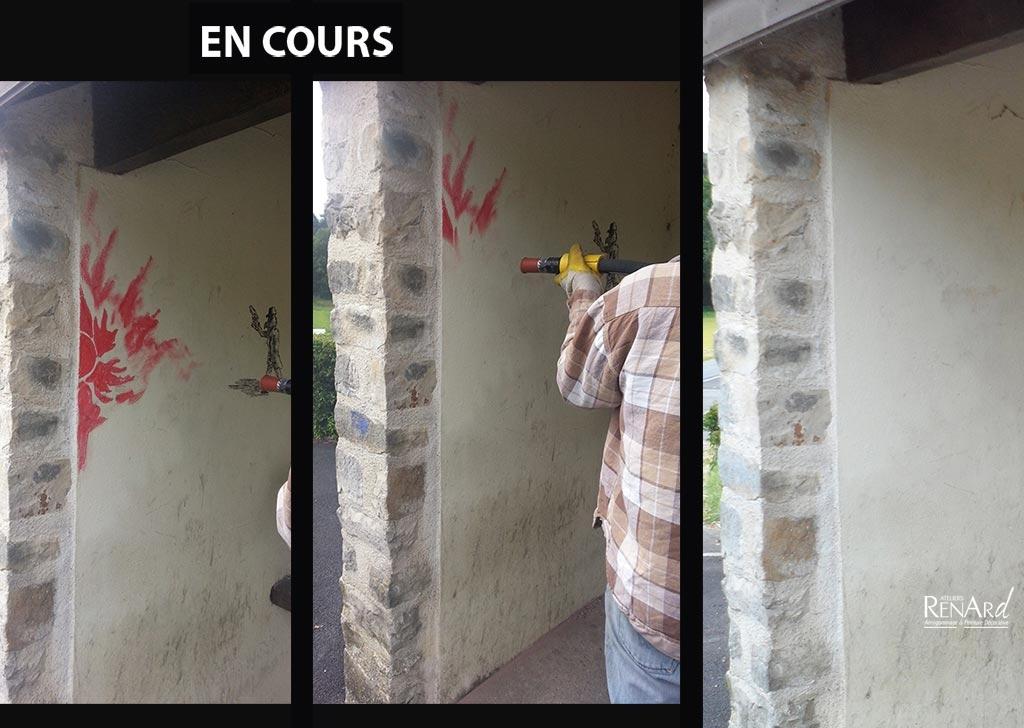 nettoyage des murs beau comment nettoyer mur blanc avec comment enlever des traces de doigts. Black Bedroom Furniture Sets. Home Design Ideas