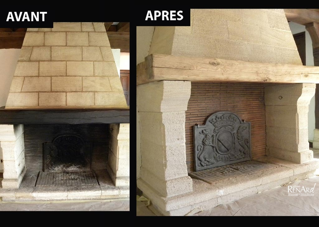 Rnover une chemine en pierre renover une cheminee - Nettoyer pierre cheminee ...