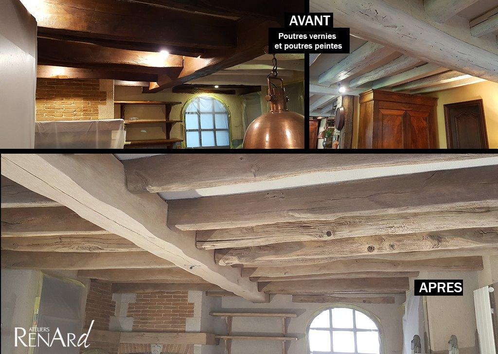 Aérogommage bois, galeries photos Ateliers Renard 91 # Aérogommage Bois Location