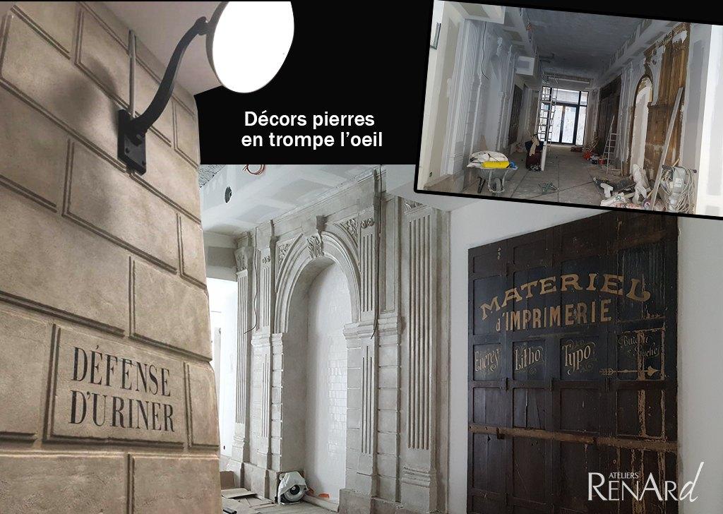 fresques et trompes l il galeries photos ateliers renard. Black Bedroom Furniture Sets. Home Design Ideas