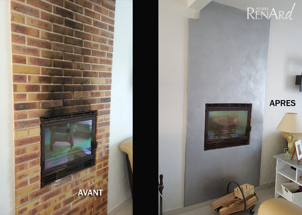 beton cir pour chemine simple charming beton cire pour. Black Bedroom Furniture Sets. Home Design Ideas