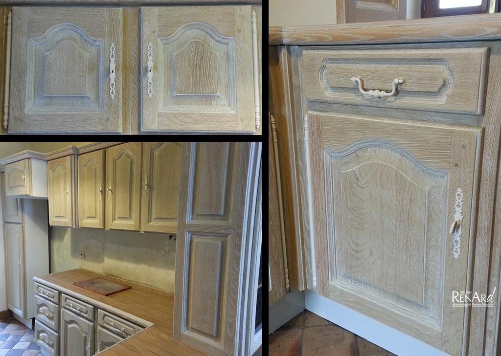 Relooking cuisine, Galeries photos  Ateliers Renard Essonne -> Peinture Gris Cerusé