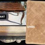 Table et sa marqueterie