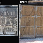 renovation portail par sablage aérogommage