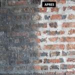 Aérogommage Mur de briques