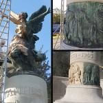 Nettoyage bronze monument historique