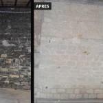Aérogommage Murs en pierres de taille