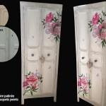 armoire relookée décors peints