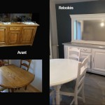meubles de salle à manger relookée