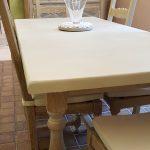 table céruse et béton ciré