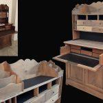 relooking sécrétaire bois naturel