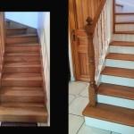 relooking escalier en chene peint