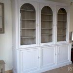 relooking vitrine patine lin et blanc