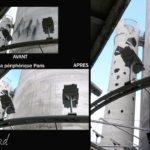 aérogommage silo ciments Calcia sur périphérique Parisien