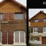 facade bois aérogommage