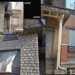 nettoyage facade par aérogommage brique et pierres